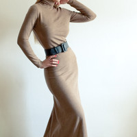 Custom Made Classic and Elegant Wool Jersey Maxi by LanaStepul