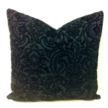 Black Velvet Pillow Cover, Black Pillow, Black Cushion, Black Velvet Throw Pillow, Black Velvet Pillow, Velvet Sofa Couch Pillow Case Covers