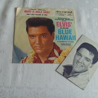 Sixties Elvis Presley RCA 45 Album Blue Hawaii Twist Special Edition Signed Trading Card Picture