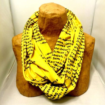 Handwritten Knit Scarf - Hufflepuff Harry Potter Spells