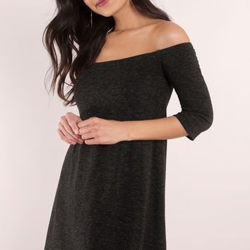 Olly Off Shoulder Shift Dress