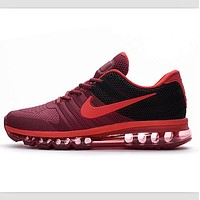 NIKE trend of plastic bottom casual shoes breathable running shoes Burgundy black
