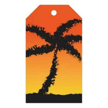 Island Sunset Gift Tags