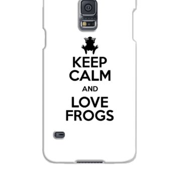 keep calm love frogs - Samsung Galaxy S5 Case
