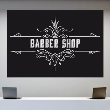 Vinyl Decal Wall Sticker Vintage Barber Shop Advertising Signboard Decor (n867)