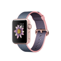 Apple Watch - Rose Gold Aluminum Case with Light Pink/Midnight Blue Woven Nylon
