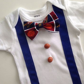 Cleveland Cavaliers Onesuit, Cavs Baby, Cleveland Cavs, Cavs Bowtie Onesuit, Cleveland Baby Tee, NBA Baby
