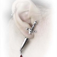Alchemy Gothic Earring - Cesare's Veto (Single Stud) - Buy Online at Grindstore.com