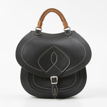 Totokaelo - Maison Margiela Black Calf Leather Shoulder Bag - $2,980.00