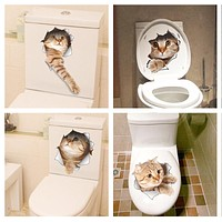 3D Toilet Smashed Switch Wall Sticker