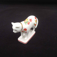 The Franklin Mint Curio Cat Collection Kakiemon, Vintage Franklin Mint Cat Collectables, Cat Figurine