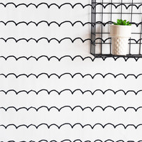 Sketchbook Scallop Removable Wall Paper
