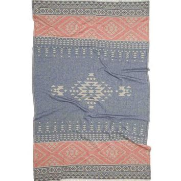 Turkish-T - Aztec Beach Towel | Blue