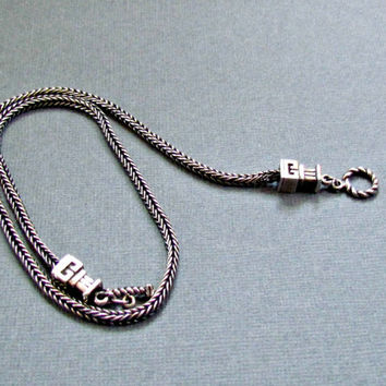 Silver Wheat Chain Necklace with Toggle Closure