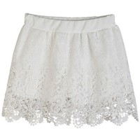 All-matching Crocheted Lace Skirt - OASAP.com