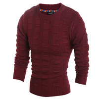 Mens Slim Pullover Sweater