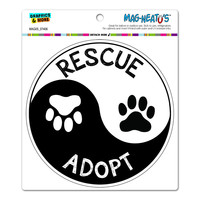 Rescue Adopt Yin Yang - Paw Prints Animals Dogs Cats Circle MAG-NEATO'S TM Car-Refrigerator Magnet