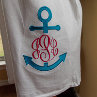 Monogrammed Anchor Swimsuit Cover-Up