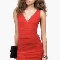 Gloria Low Cut Bodycon Dress