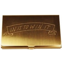 In God We Trust Engraved Business Card Case