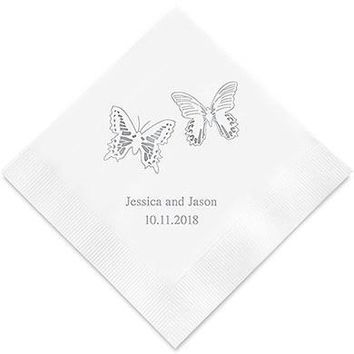 Beautiful Butterflies Printed Paper Napkins (Sets of 80-100)