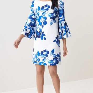 Eliza J Floral Shift Dress (Regular & Petite) | Nordstrom