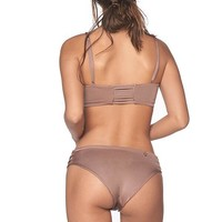MALAI Sparkly Taupe String Side Bottom
