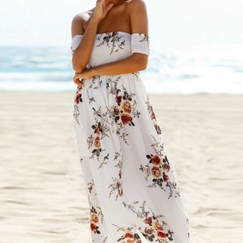Delilah Waves Maxi Dress - White