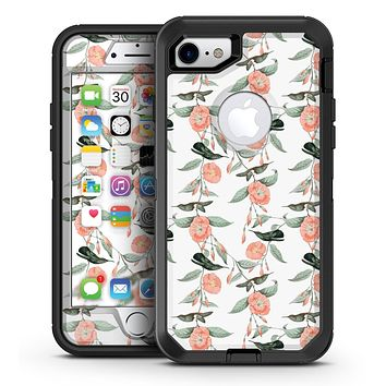 The Coral Flower and Hummingbird All Over Print - iPhone 7 or 7 Plus OtterBox Defender Case Skin Decal Kit