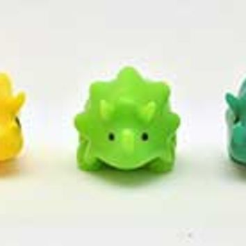Fossil Friends Pencil Top Squishies - Triceratops.