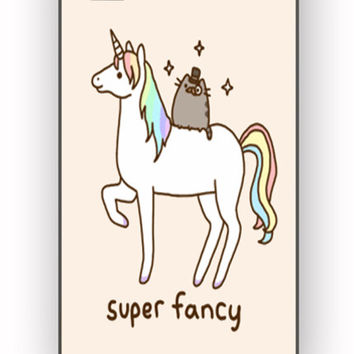 Pusheen Cat With Unicorn for iPhone 4/4S Case **