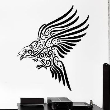 Wall Decal Eagle Bird Predator Ornament Tribal Mural Vinyl Decal (z3200)