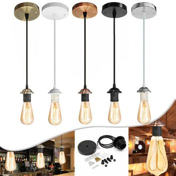 E27 Vintage Holder Fitting LED Ceiling Lamp Industrial Loft Iron Chandelier Fixture Pendant Lamp Base