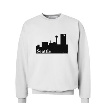 Seattle Skyline with Space Needle Sweatshirt by TooLoud
