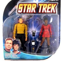 Diamond Select Toys Star Trek The Original Series Action Figure 2-Pack Captain Kirk and Lt. Uhura
