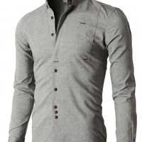 Doublju Premium Slim Fit Designed Button-down Shirts