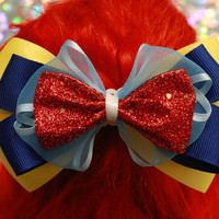 Princess Snow White Bow by ExtraSweetBowtique on Etsy