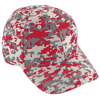 Augusta 6208 Camo Cotton Twill Cap - Red Camo