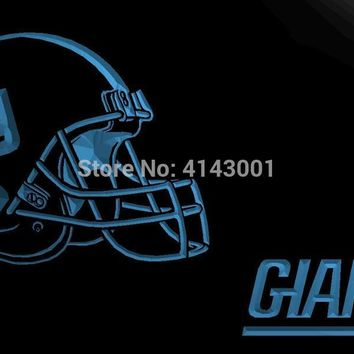 LS2064-b- NY New York Giants Helmet 3D LED Neon Light Sign Customize on Demand 8 colors to choose