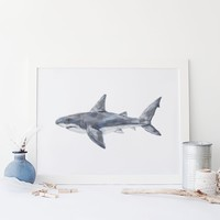 Great White Shark Wall Art Print