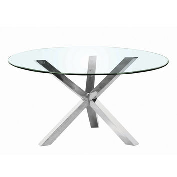 Mantis Round Dining Table Base Stainless Steel