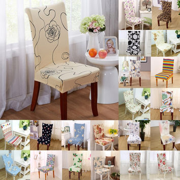1pcs Flower Butterfly Strech Home Decor Dining Chair Cover Spandex Decoration covering Office Banquet Hotel chair Covers 43033