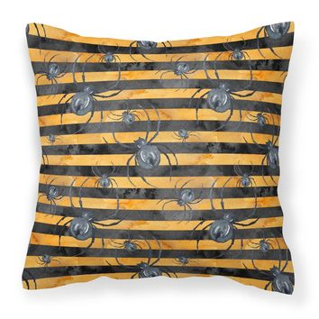 Watecolor Halloween Spiders Fabric Decorative Pillow BB7526PW1818