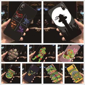Fatperson Black Frame cover Teenage Mutant Ninja Turtles design Phone cases For iphone X 6 6S 7 8 Plus 5 5S 7Plus 8Plus