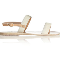 Ancient Greek Sandals - Clio calf hair and leather sandals