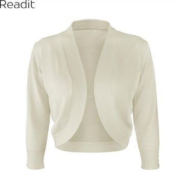 Readit Women Curve Hem Shrug Casual Front Open Cardigan Women Bolero Curved Short Shrug Summer Knitted Sweater Female 2017 K2138