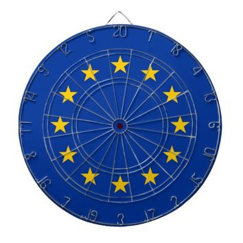 Dartboard with Flag of European Union