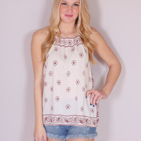 Coming Home Halter - Ivory and Red