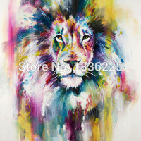 No Framed 1 Panel  Modern Animal Lion king Oil painting on canvas wall decoration Home wall art picture painting on canvas