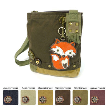 Chala Patch Crossbody Bag+Coin Purse (Orange Fox)